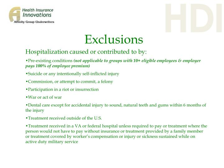 Hospitalization caused or contributed to by: