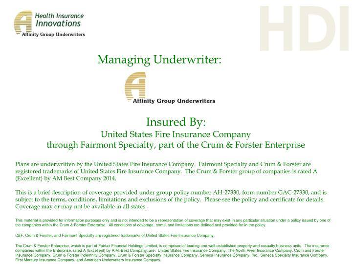 Managing Underwriter:
