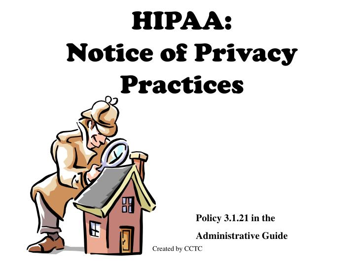 hipaa notice of privacy practices