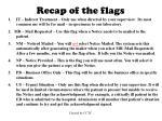 recap of the flags