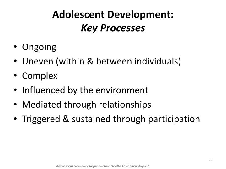 Adolescent Development: