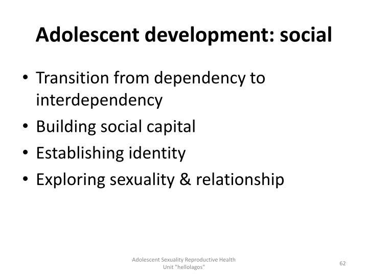 Adolescent development: social