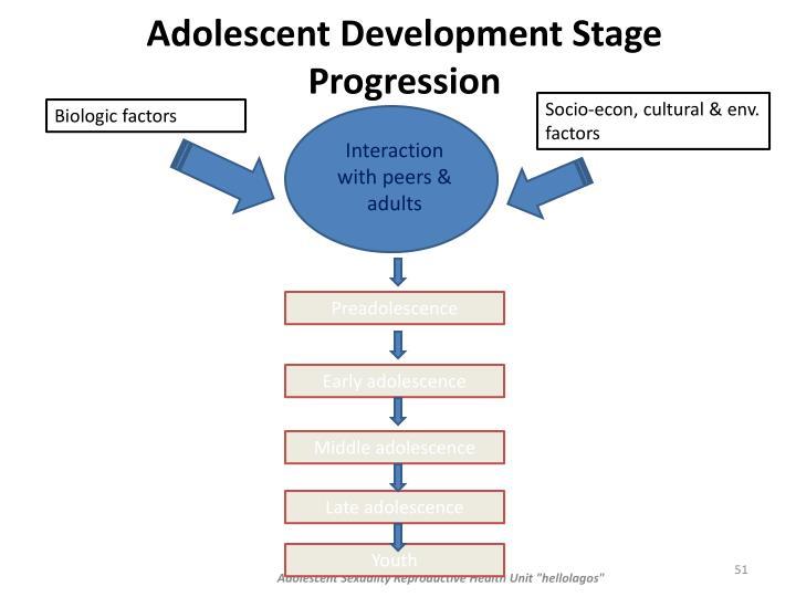Adolescent Development Stage Progression