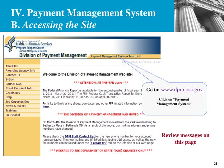 IV. Payment Management System