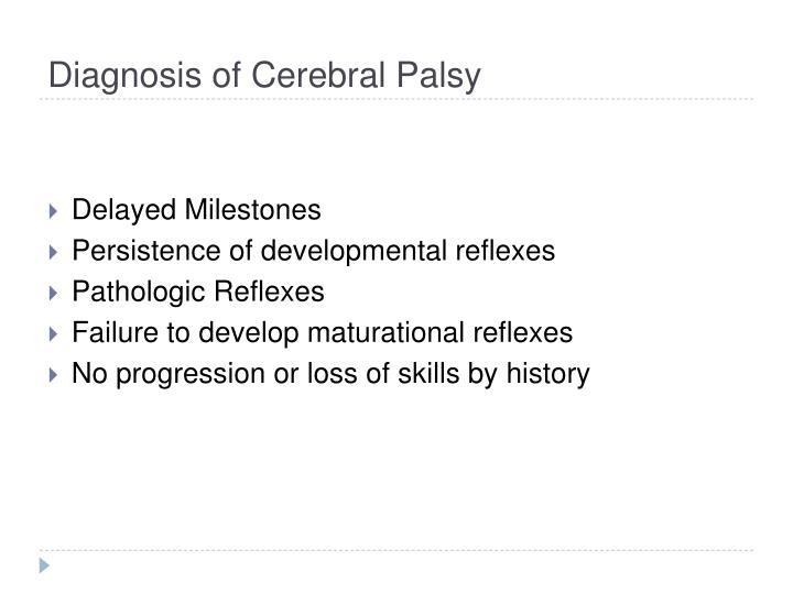 Diagnosis of Cerebral Palsy