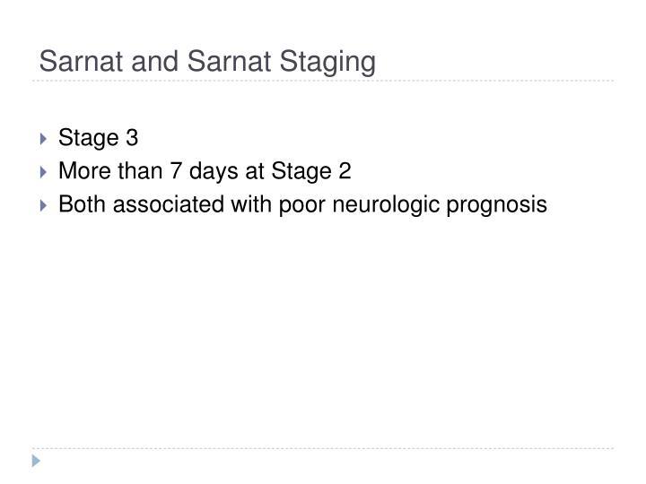 Sarnat and Sarnat Staging