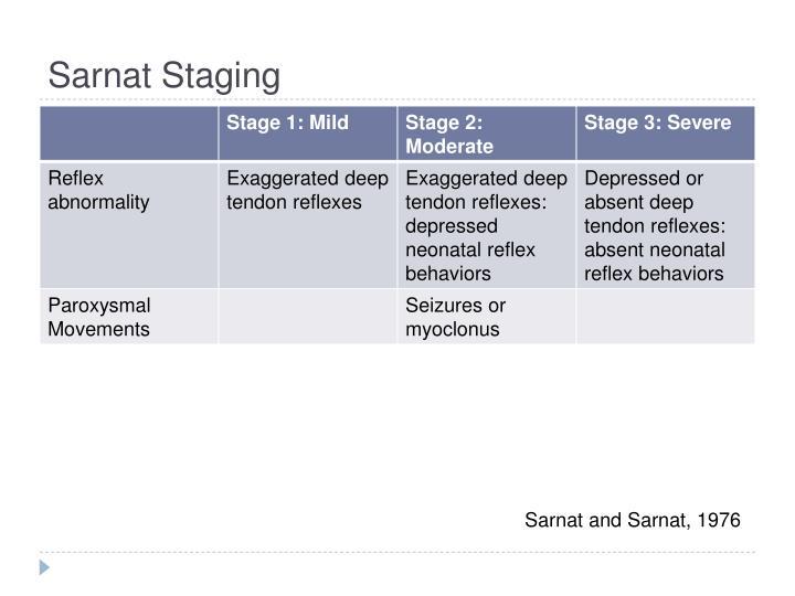 Sarnat Staging