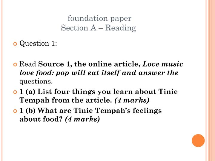 foundation paper