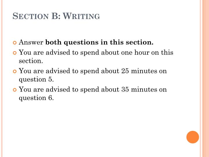 Section B: Writing