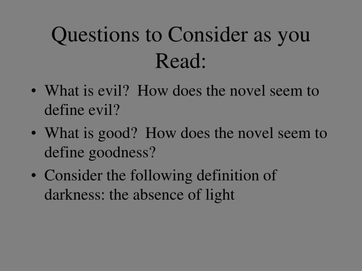 Questions to Consider as you Read: