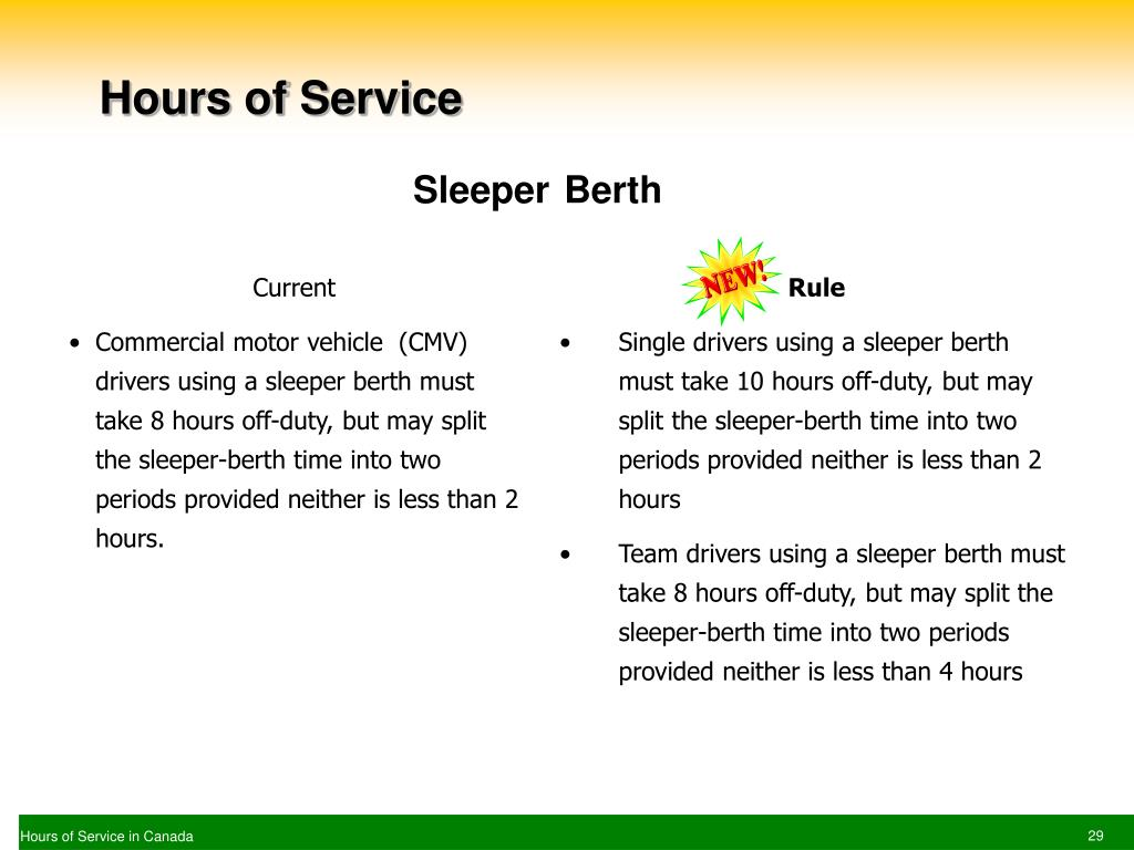 hos rules for team drivers