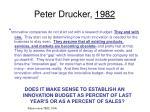 peter drucker 1982