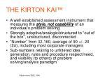 the kirton kai
