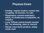 physical exam1
