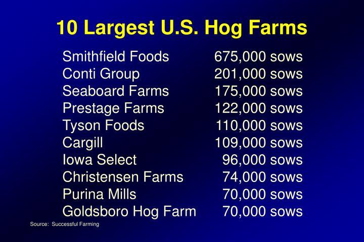 10 Largest U.S. Hog Farms