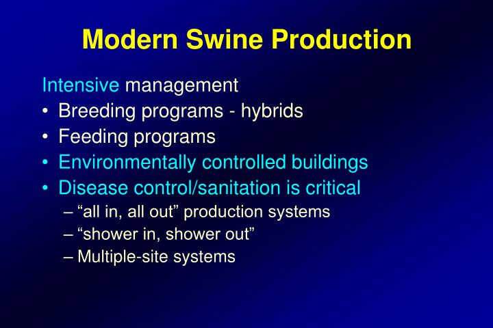 Modern Swine Production
