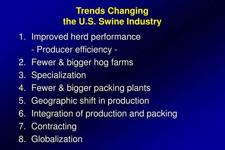 Trends Changing