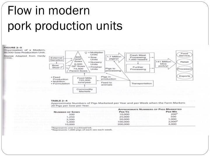 Flow in modern