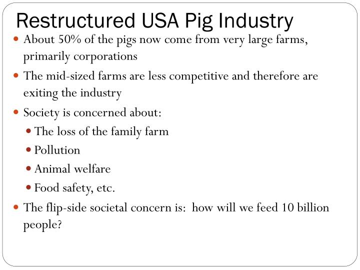Restructured USA Pig Industry