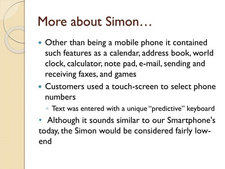 More about Simon…