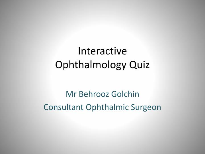 interactive ophthalmology quiz n.