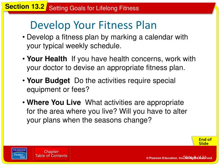 Develop Your Fitness Plan