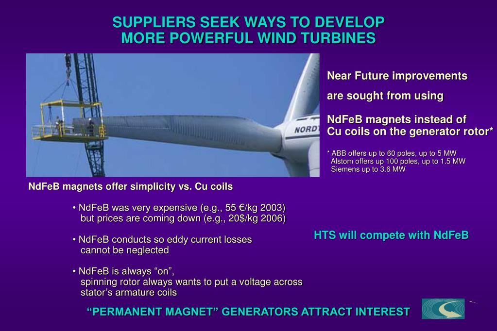PPT - AMSC's PLANNED ANALYSIS OF ECONOMICS OF HTS GENERATORS FOR