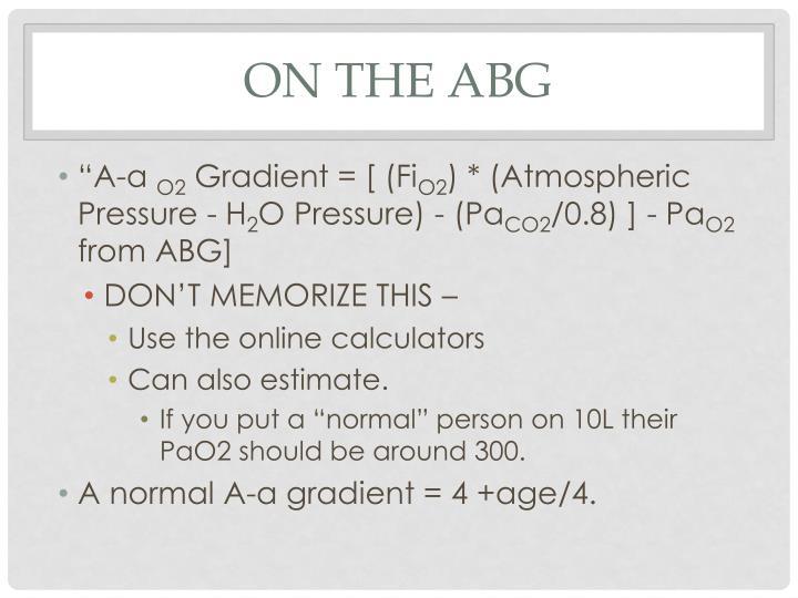 On the ABG