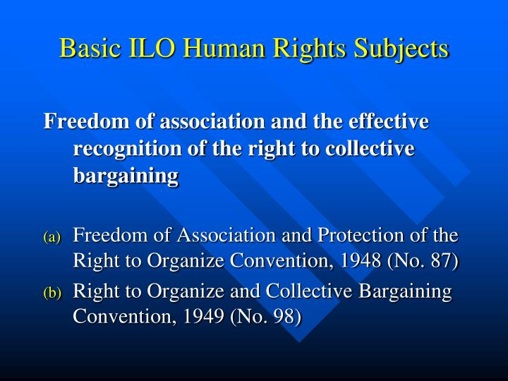 Basic ILO Human Rights Subjects