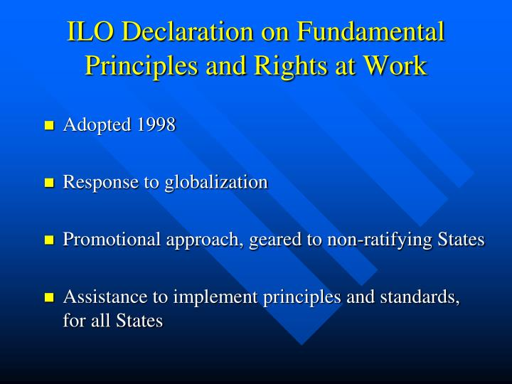 ILO Declaration on Fundamental