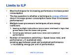 limits to ilp3