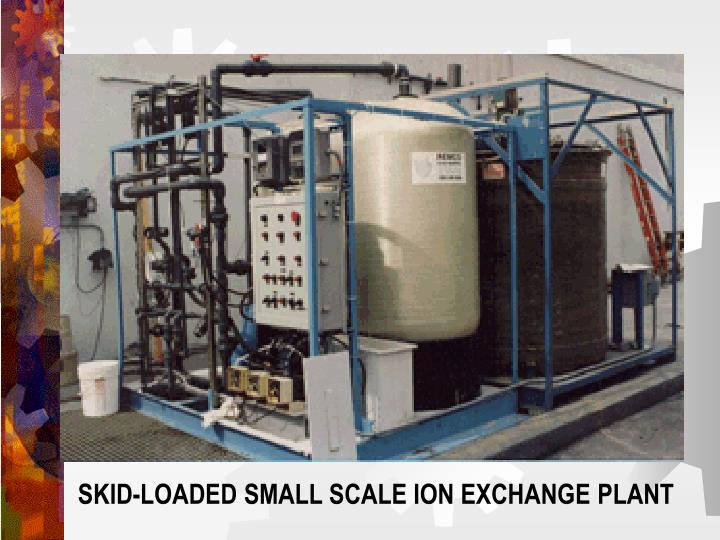 SKID-LOADED SMALL SCALE ION EXCHANGE PLANT