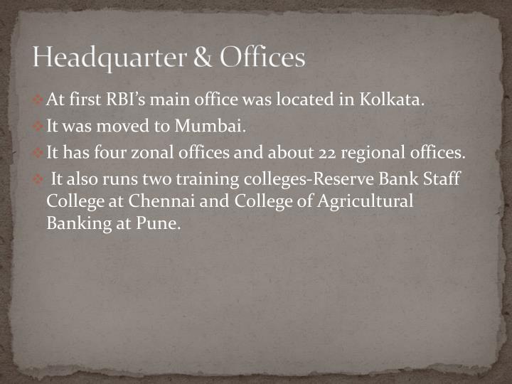 Headquarter & Offices