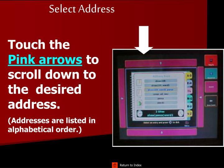 Select Address