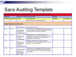 sans auditing template1