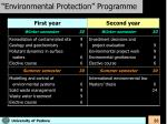 environmental protection programme