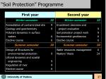 soil protection programme
