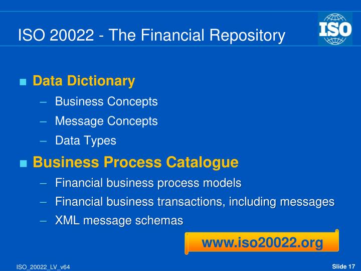 ISO 20022 - The Financial Repository