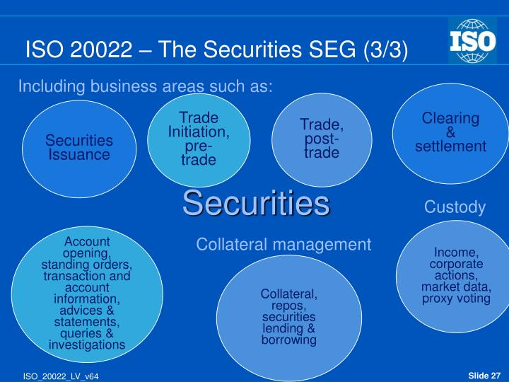 ISO 20022 – The Securities SEG (3/3)