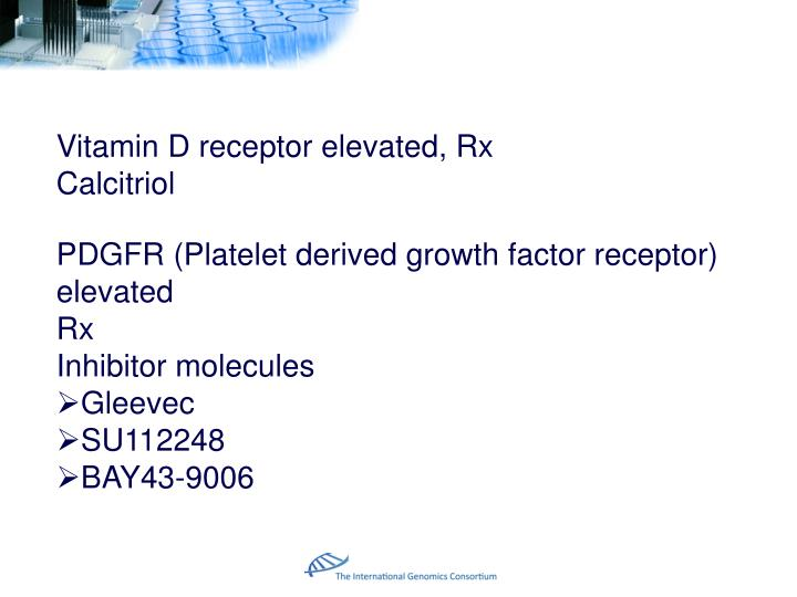 Vitamin D receptor elevated, Rx