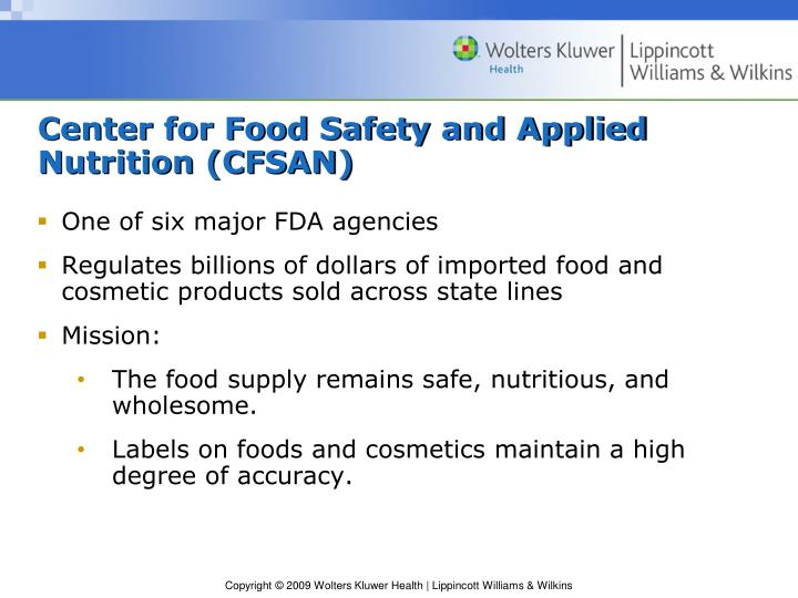 Center for Food Safety and Applied Nutrition (CFSAN)
