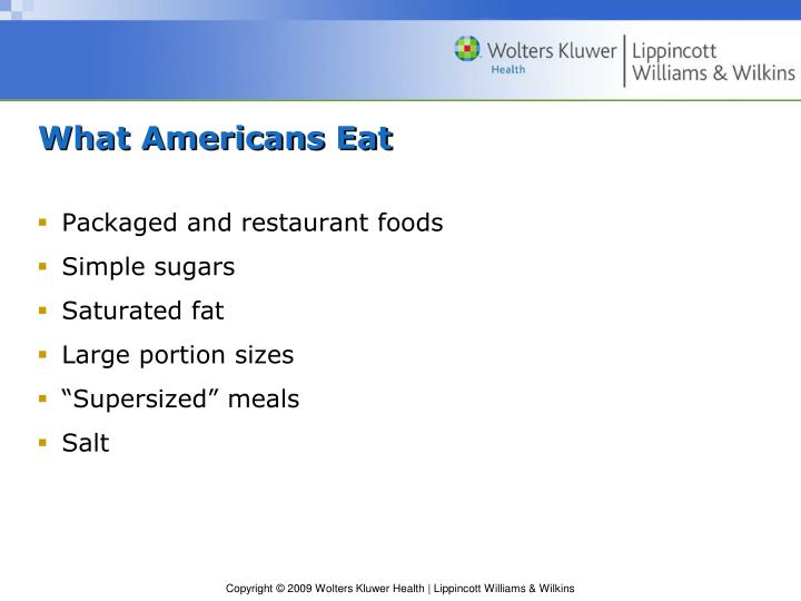 What Americans Eat