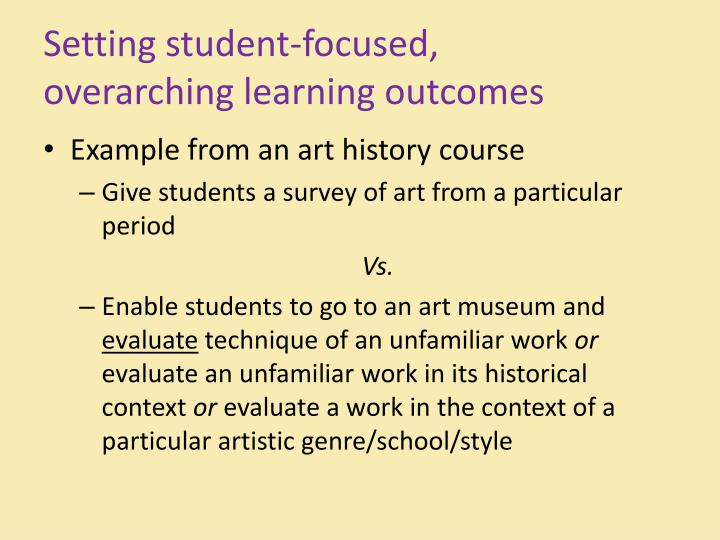 Setting student-focused,