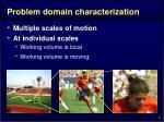 problem domain characterization