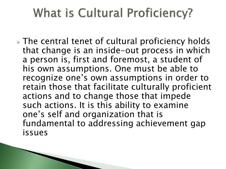 What is cultural proficiency1