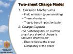 two sheet charge model