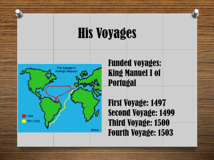 His Voyages