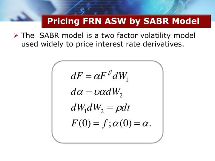 Pricing FRN ASW by SABR Model