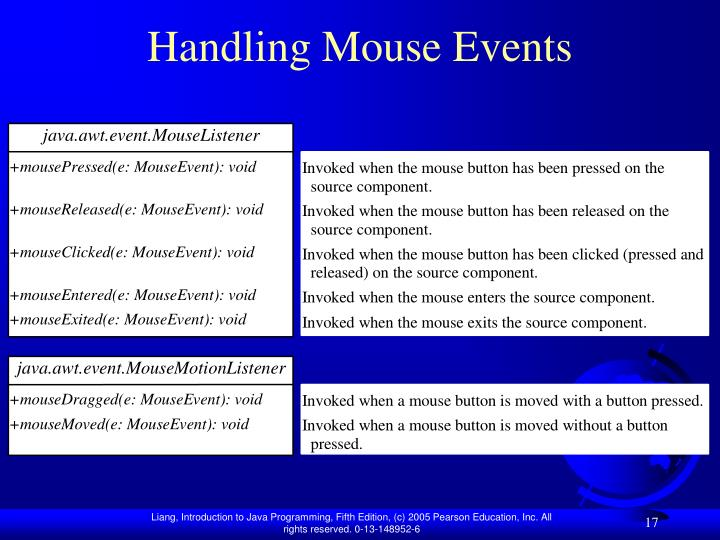 Handling Mouse Events