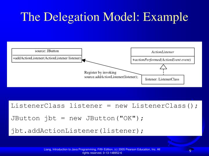 The Delegation Model: Example